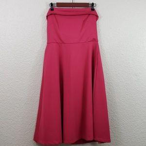 Banana Republic Fit Flare Strapless Ponte Dress